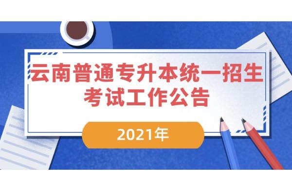 2021年云南普通专升本统一招生考试工作公告