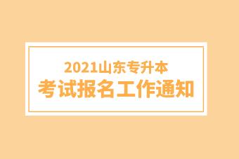 2021山东专升本考试报名工作通知